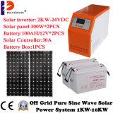 Systèmes résidentiels de panneau solaire de hors fonction-Réseau de l'énergie solaire 3000W
