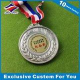 La médaille bon marché en gros de blanc en métal avec le laser a gravé votre logo