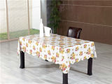 Tablecloth impresso opaco do PVC do branco popular barato
