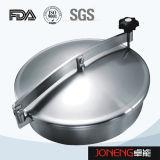 Tipo redondo sanitario cubierta de boca del tanque (JN-ML1002) del acero inoxidable