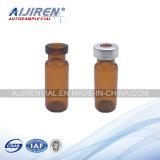 tubo de ensaio de vidro ambarino da garganta do friso 2ml com tampões e septos