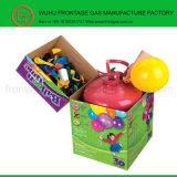 Tanque de gás do hélio com balões