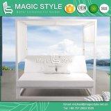 Progetto di alluminio dell'hotel della mobilia della Doppio-Base del Daybed della spiaggia del Daybed del giardino della mobilia dell'unità di elaborazione del Daybed della pioggia (STILE MAGICO)