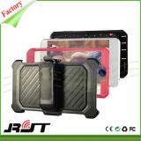 Schokbestendig Hybride Geval Silicone+PC Cellphone met de Houder van de Auto