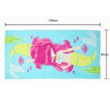 Poncho imprimé concurrentiel de Bath de poncho de plage de conception animale