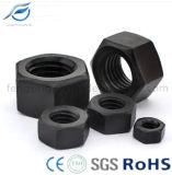 Noix hexagonale en acier au carbone à haute résistance noire