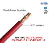 Câble supplémentaire du faisceau 0.6/1kv de prix bas d'isolation de cuivre à un noyau de PVC