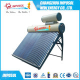 Acero galvanizado de vacío compacto del tubo del calentador de agua solar (15-30tubes) con Solar Keymark
