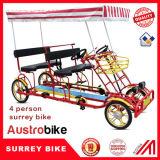Bici in tandem per quattro persone del Surrey dell'automobile per due persone del pedale
