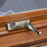 Finestra di legno di alluminio della stoffa per tendine con la serratura storta Kz206