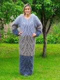 O OEM do costume tricota manualmente o pulôver do vestido do casaco de lã da camisola