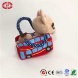Cane in Car Printed Bag Lovely Stuffed Pet Toy