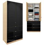 Het moderne Kabinet van de Garderobe van het Meubilair van de Slaapkamer met Regelbare Planken en Laden (HF-EY09041)