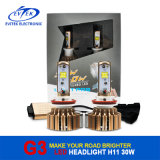 Faro dorato dorato 3000lm di vendita LED di Evitek dell'indicatore luminoso caldo G3 H11 LED dell'automobile