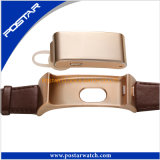 Reloj promocional del regalo del reloj elegante unisex con la venda del cuero genuino