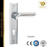 Maniglia d'acciaio della serratura di portello con il grande piatto (7026-Z6073)