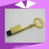 USB chiave Pen Drive di Shaped in Silver e in Golden Plating Ku-023