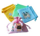 Печати логоса ткани Varisou мешок Drawstring изготовленный на заказ Nonwoven (my07222)
