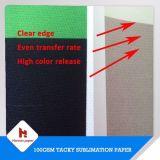 70GSM économique, 100GSM, papier de transfert collant semi visqueux et lourd de sublimation pour des vêtements de sport