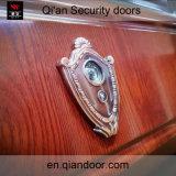 Puerta de acero exterior de la seguridad de la chapa de madera del grano