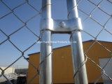 Rete fissa rivestita galvanizzata per il campo da giuoco, rete fissa ampiamente usata di Catena-Collegamento di vario formato, rete fissa provvisoria galvanizzata tuffata calda di collegamento Chain del PVC di collegamento Chain della costruzione