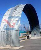 Arco d'acciaio del canale sotterraneo del cerchio mezzo