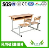 رخيصة خشبيّة مزدوجة مدرسة مكتب وكرسي تثبيت ([سف-30د])