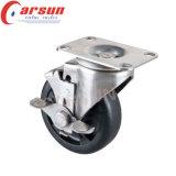 125mm prestaciones medias Rotación de las ruedas giratorias de alta temperatura (con vástago roscado)
