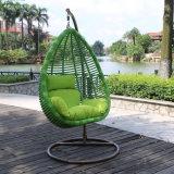 Silla elegante del diseño del ocio muebles de mimbre de jardín huevo