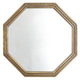 최신 판매 고대 금 꾸며지는 좁은 목제 끈을%s 가진 8각형 프레임 벽 미러