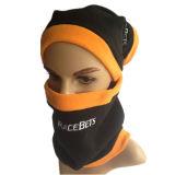 Unisexhutsnood-polare Vlies-Schablonesnood-Hut-Stutzen-Wärmer-Ski-Schalbeanie-Kopfschutz-Gesichtsmaske des Winter-3 in-1