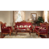 Leather antico Sofa Set con Wood Table (YF-D506)
