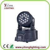 Luz móvil del club de la colada 18PCS LED de las curaciones de 3W RGB