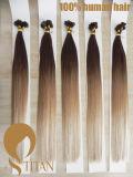 100% extensões pre lig do cabelo de Remy na cor de Ombre