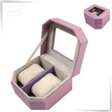 Роскошная Handmade коробка вахты шлицев таможни 2 с стеклянным окном