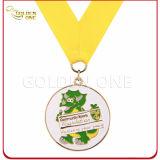Divisa militar plateada oro de encargo barato caliente de la medalla de la venta