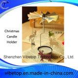 Suporte de vela creativo do metal para a decoração do Natal