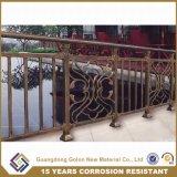 안전 용접에 의하여 직류 전기를 통하는 강철 Bronze-Coloured 관 발코니 방책 없음