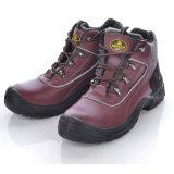 高品質の鋼鉄つま先の帽子M-8307ブラウンが付いている自然な革安全靴