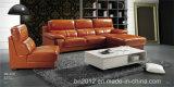 居間の本革のソファー(SBL-9129)
