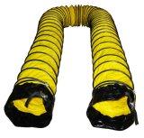 Conduit flexible de PVC avec la chemise et la boucle noires