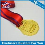 Una medaglia atletica lucida delle 2015 medaglie squisite promozionali del metallo