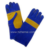 Verstärkter Daumen-Doppelt-Palmen-lederne Handschuh-Schweißer-Handschuh-Arbeits-Handschuh