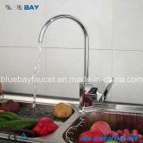 Nickel en laiton de mélangeur de robinet de taraud de chrome de cuisine simple de traitement balayé