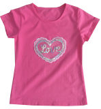 Kids Wear Clothing Sgt-083の方法Heart Girl Children T-Shirt