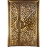 Da segurança de bronze de cobre real da porta de entrada da prova da bala da porta da antiguidade 100% porta dobro (M-B005)