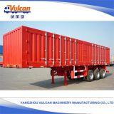 Le fournisseur de Yangzhou a personnalisé la remorque semi entourée par cargaison de 3 essieux
