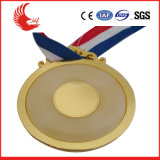 Il metallo poco costoso su ordinazione mette in mostra la medaglia Polished con il nastro