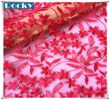 Merletto del tessuto personalizzato nuovo merletto di disegno del fiore per il vestito da cerimonia nuziale