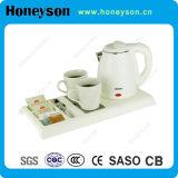Комплект подноса гостеприимсва чайника прибора гостиницы электрический